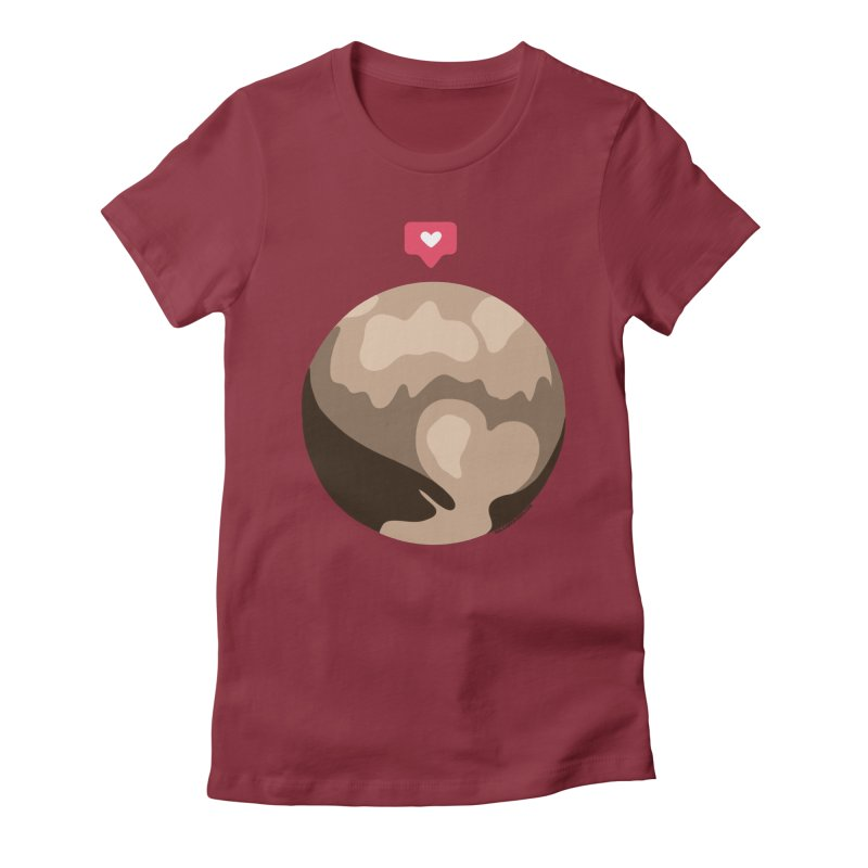 I like Pluto Women's Fitted T-Shirt by Juleah Kaliski Designs