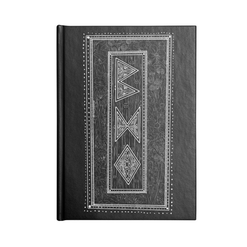 Burglars Mark Accessories Lined Journal Notebook by Juleah Kaliski Designs
