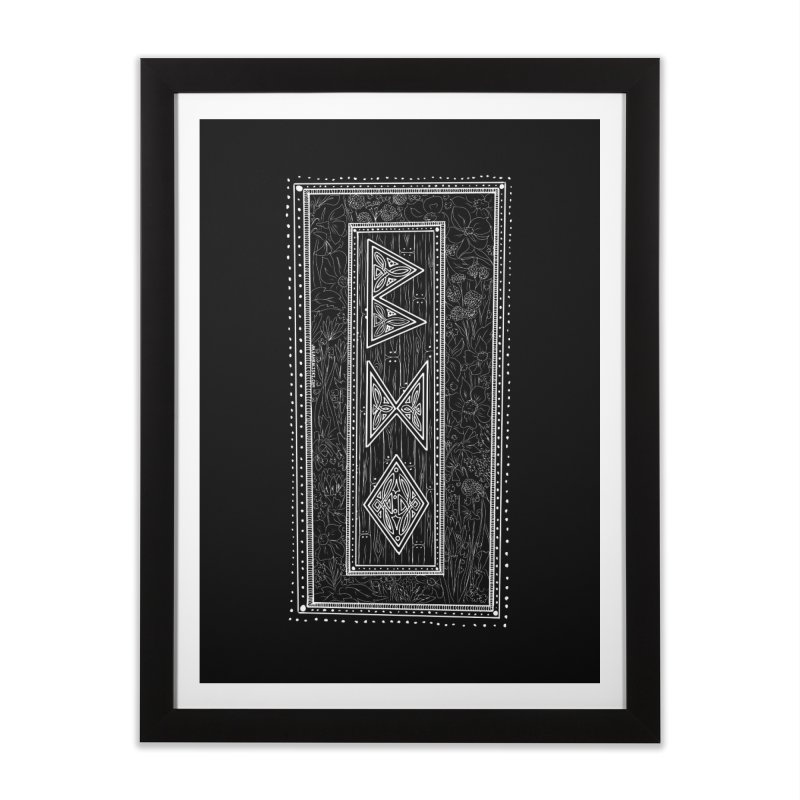 Burglars Mark Home Framed Fine Art Print by Juleah Kaliski Designs
