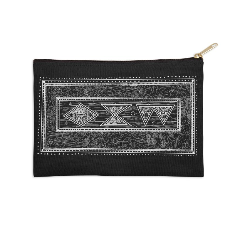 Burglars Mark Accessories Zip Pouch by Juleah Kaliski Designs