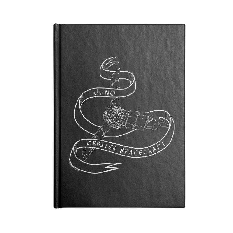 Juno Orbiter Spacecraft Accessories Lined Journal Notebook by Juleah Kaliski Designs