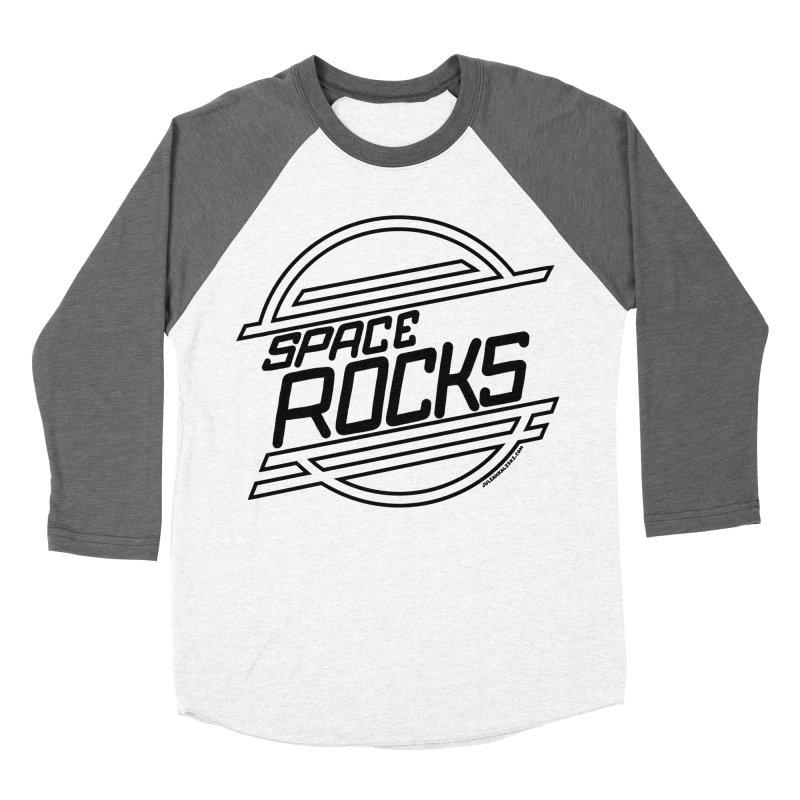 Space Rocks Women's Baseball Triblend T-Shirt by Juleah Kaliski Designs