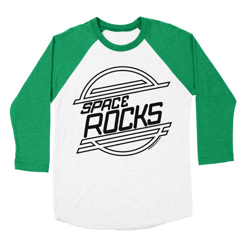 Space Rocks Men's Baseball Triblend Longsleeve T-Shirt by Juleah Kaliski Designs