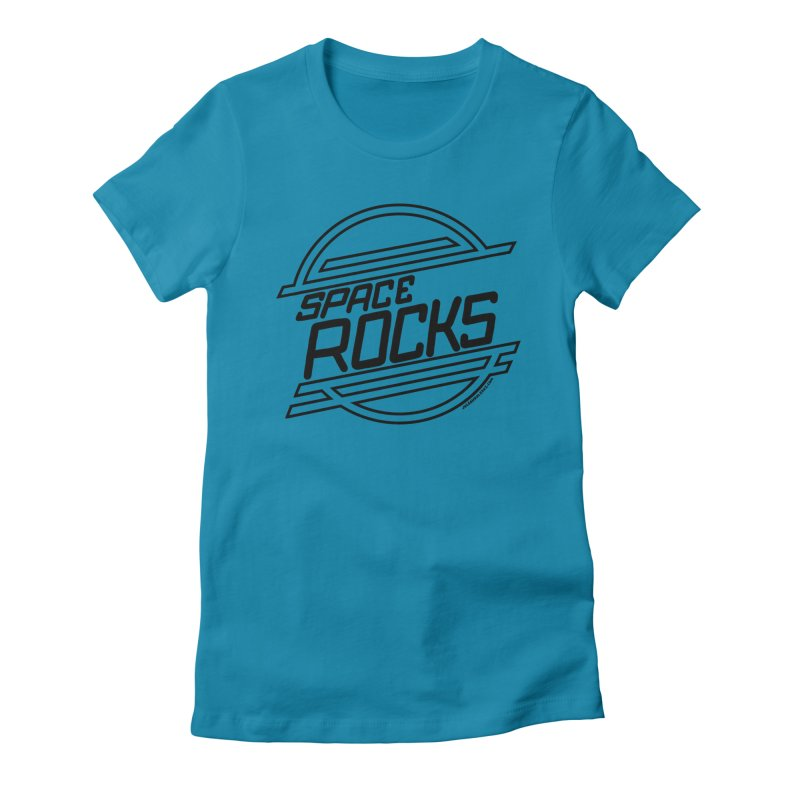 Space Rocks Women's Fitted T-Shirt by Juleah Kaliski Designs