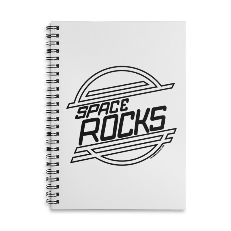 Space Rocks Accessories Lined Spiral Notebook by Juleah Kaliski Designs