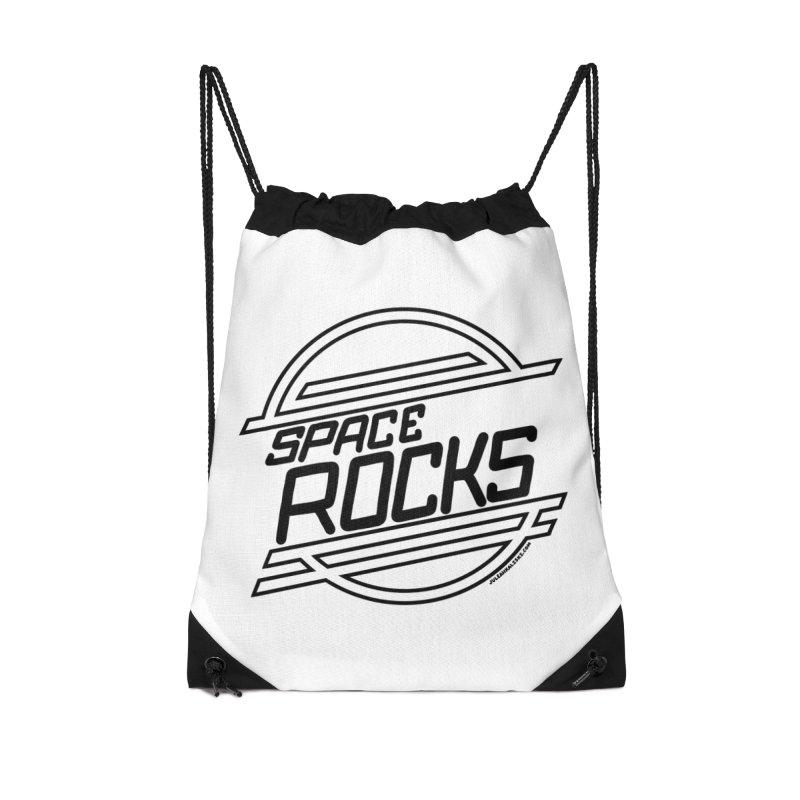 Space Rocks Accessories Drawstring Bag Bag by Juleah Kaliski Designs
