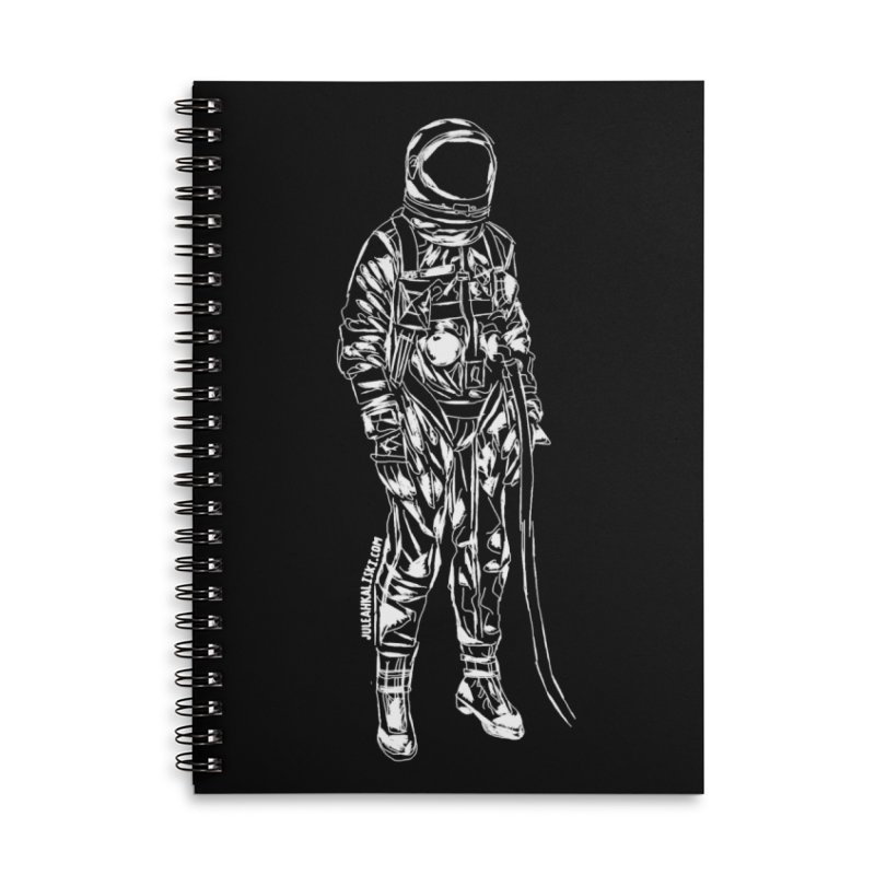 The astroGRIND - WHITE Accessories Lined Spiral Notebook by Juleah Kaliski Designs
