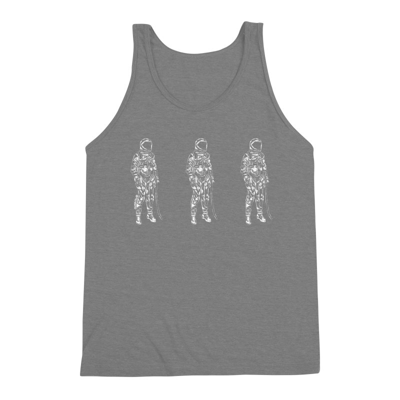 The astroGRIND - WHITE Men's Triblend Tank by Juleah Kaliski Designs