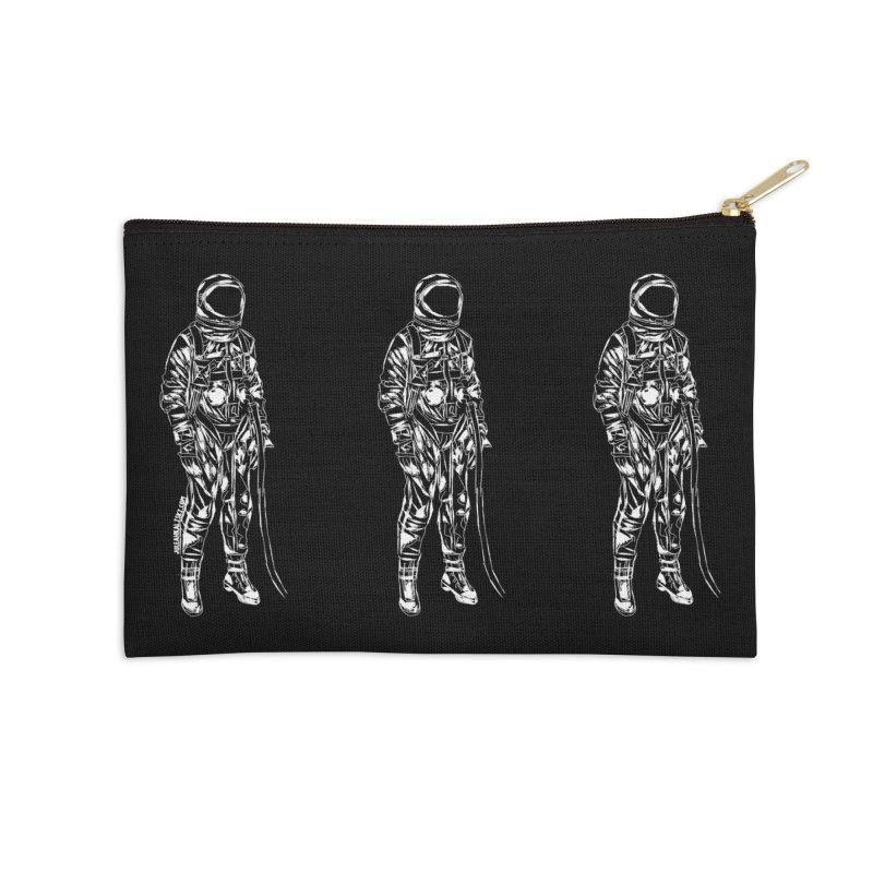 The astroGRIND - WHITE Accessories Zip Pouch by Juleah Kaliski Designs
