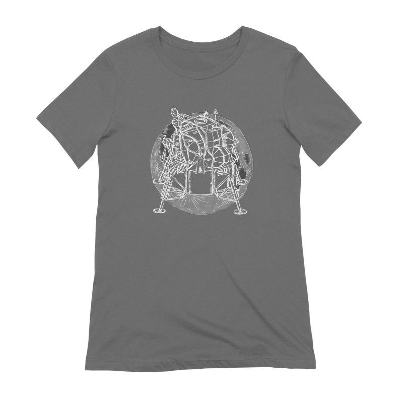 Apollo 15 Lunar Module Women's Extra Soft T-Shirt by Juleah Kaliski Designs