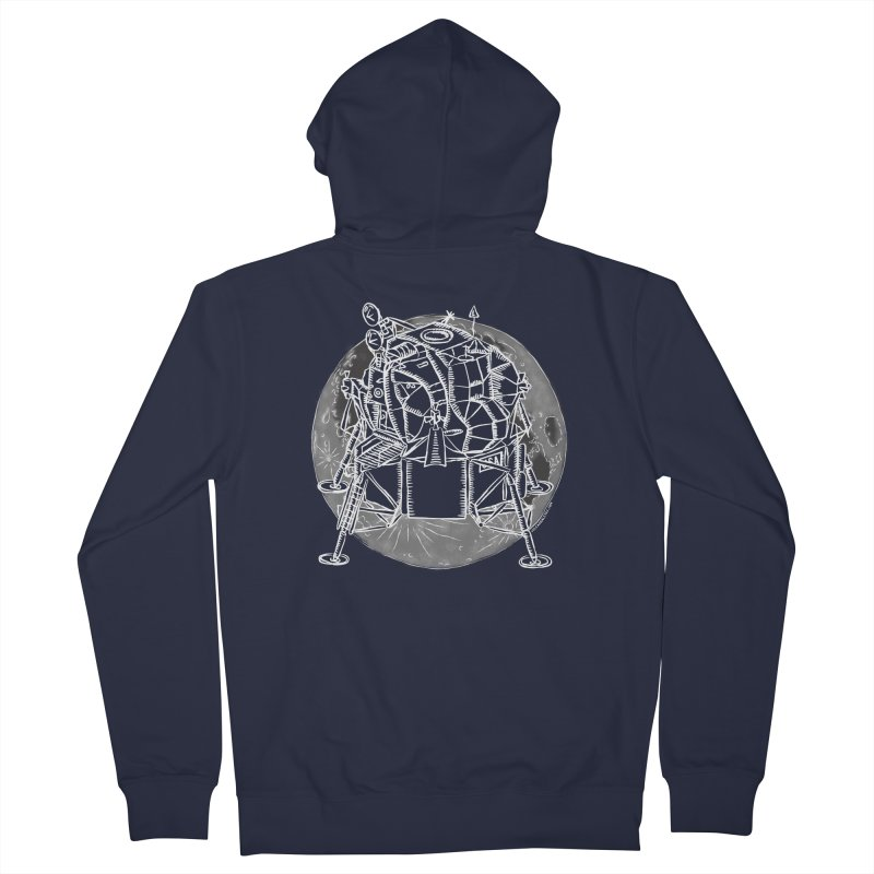 Apollo 15 Lunar Module Women's French Terry Zip-Up Hoody by Juleah Kaliski Designs