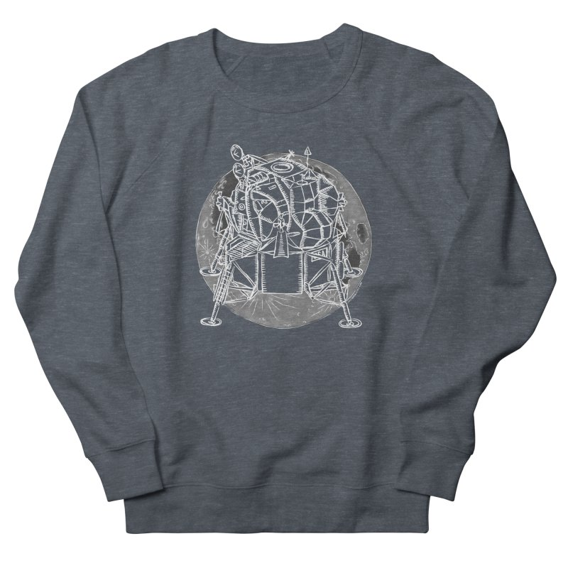 Apollo 15 Lunar Module Men's French Terry Sweatshirt by Juleah Kaliski Designs