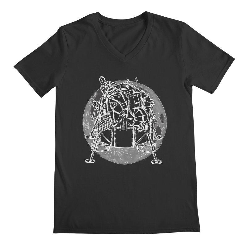 Apollo 15 Lunar Module Men's V-Neck by Juleah Kaliski Designs