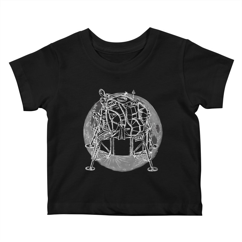 Apollo 15 Lunar Module Kids Baby T-Shirt by Juleah Kaliski Designs