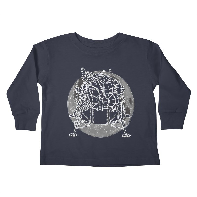 Apollo 15 Lunar Module Kids Toddler Longsleeve T-Shirt by Juleah Kaliski Designs