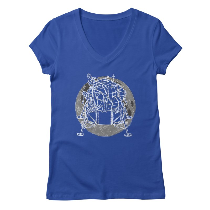 Apollo 15 Lunar Module Women's V-Neck by Juleah Kaliski Designs