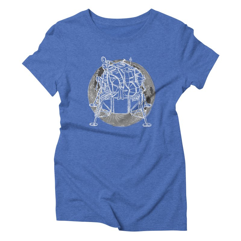 Apollo 15 Lunar Module Women's Triblend T-Shirt by Juleah Kaliski Designs