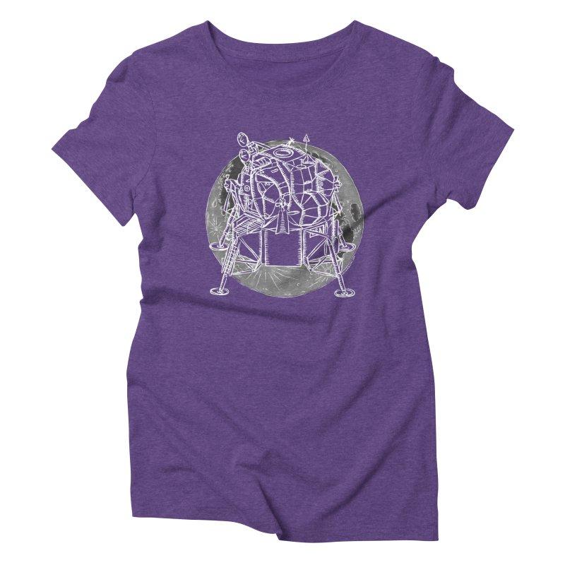 Apollo 15 Lunar Module Women's Triblend T-Shirt by Juleah Kaliski Designs