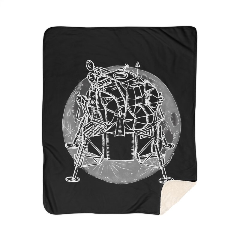 Apollo 15 Lunar Module Home Sherpa Blanket Blanket by Juleah Kaliski Designs