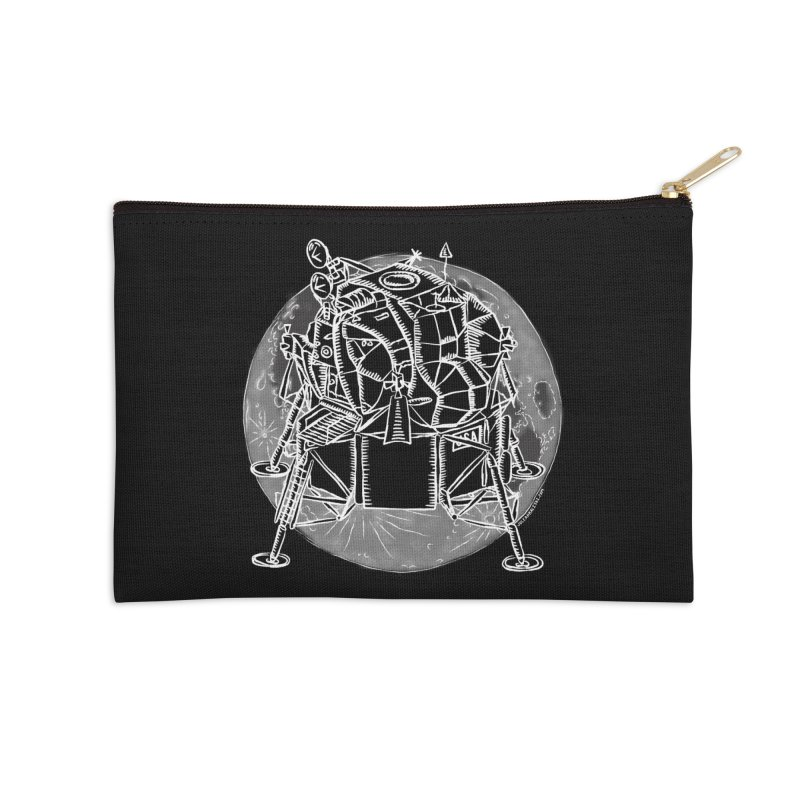 Apollo 15 Lunar Module Accessories Zip Pouch by Juleah Kaliski Designs