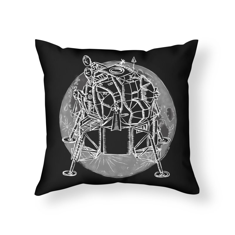 Apollo 15 Lunar Module Home Throw Pillow by Juleah Kaliski Designs