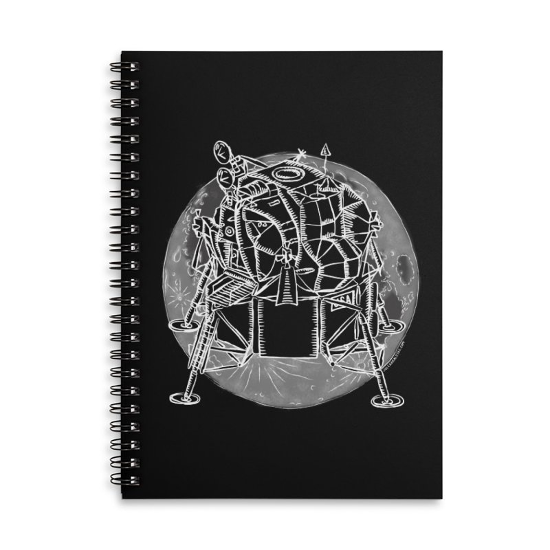 Apollo 15 Lunar Module Accessories Lined Spiral Notebook by Juleah Kaliski Designs