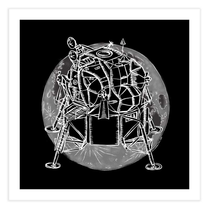Apollo 15 Lunar Module Home Fine Art Print by Juleah Kaliski Designs
