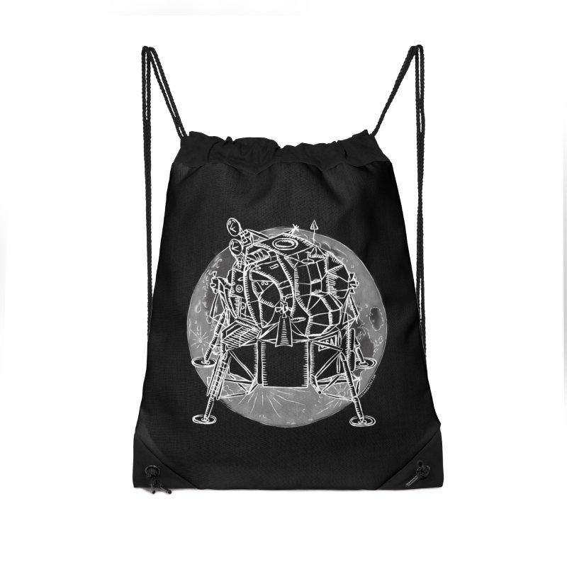 Apollo 15 Lunar Module Accessories Drawstring Bag Bag by Juleah Kaliski Designs