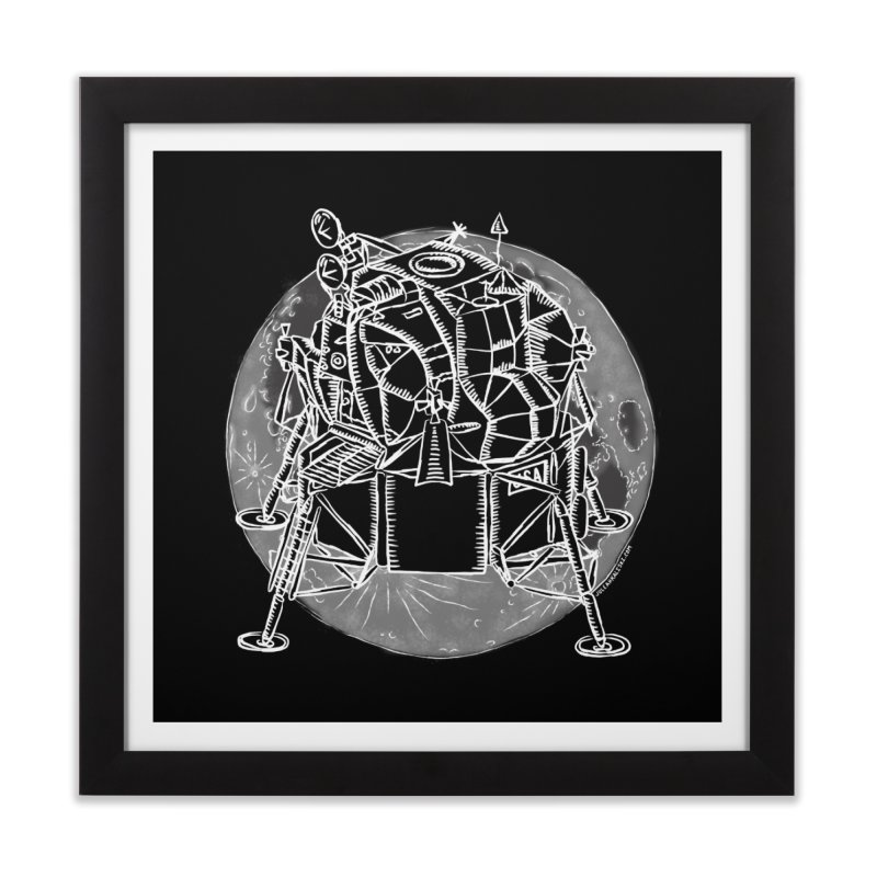 Apollo 15 Lunar Module Home Framed Fine Art Print by Juleah Kaliski Designs