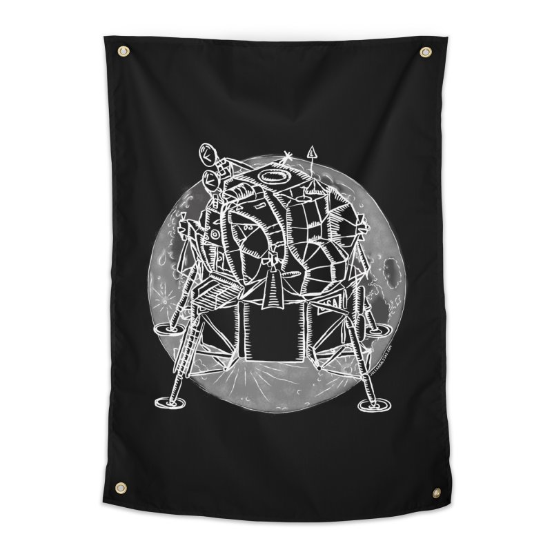 Apollo 15 Lunar Module Home Tapestry by Juleah Kaliski Designs