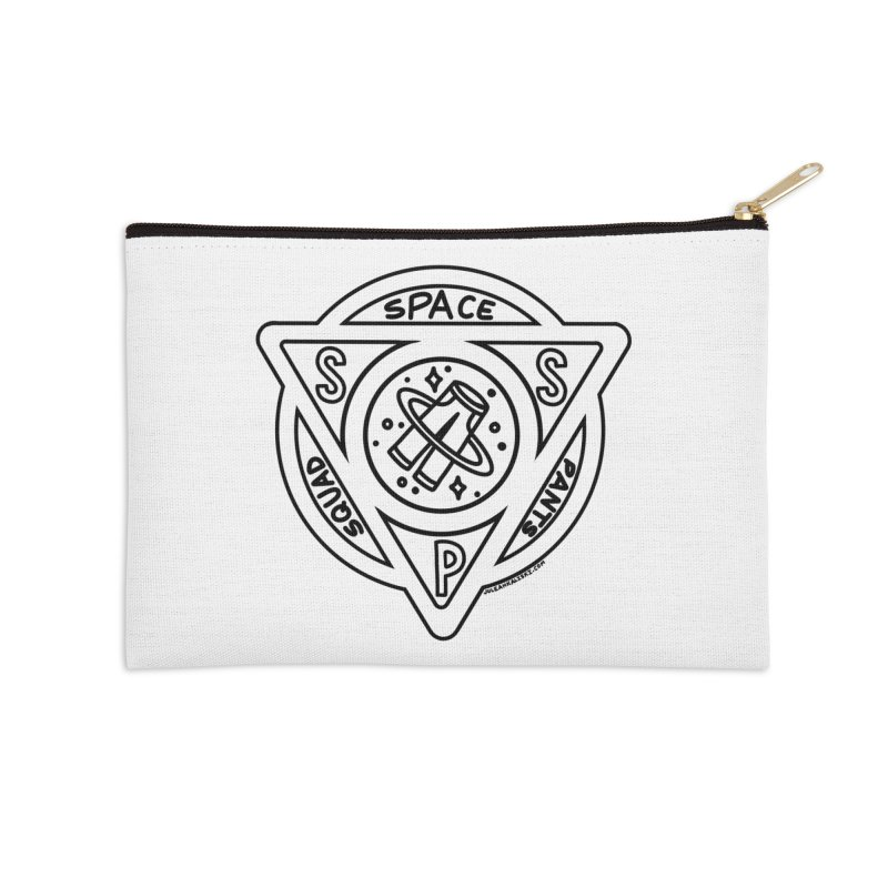 Space Pants Squad (B&W) Accessories Zip Pouch by Juleah Kaliski Designs