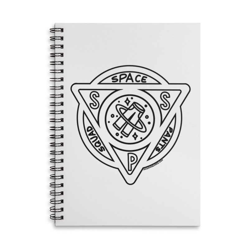 Space Pants Squad (B&W) Accessories Lined Spiral Notebook by Juleah Kaliski Designs
