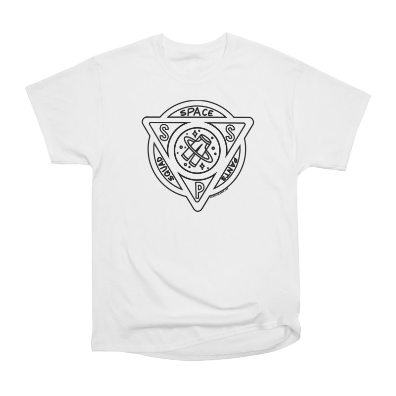 Space Pants Squad (B&W) Men's Heavyweight T-Shirt by Juleah Kaliski Designs