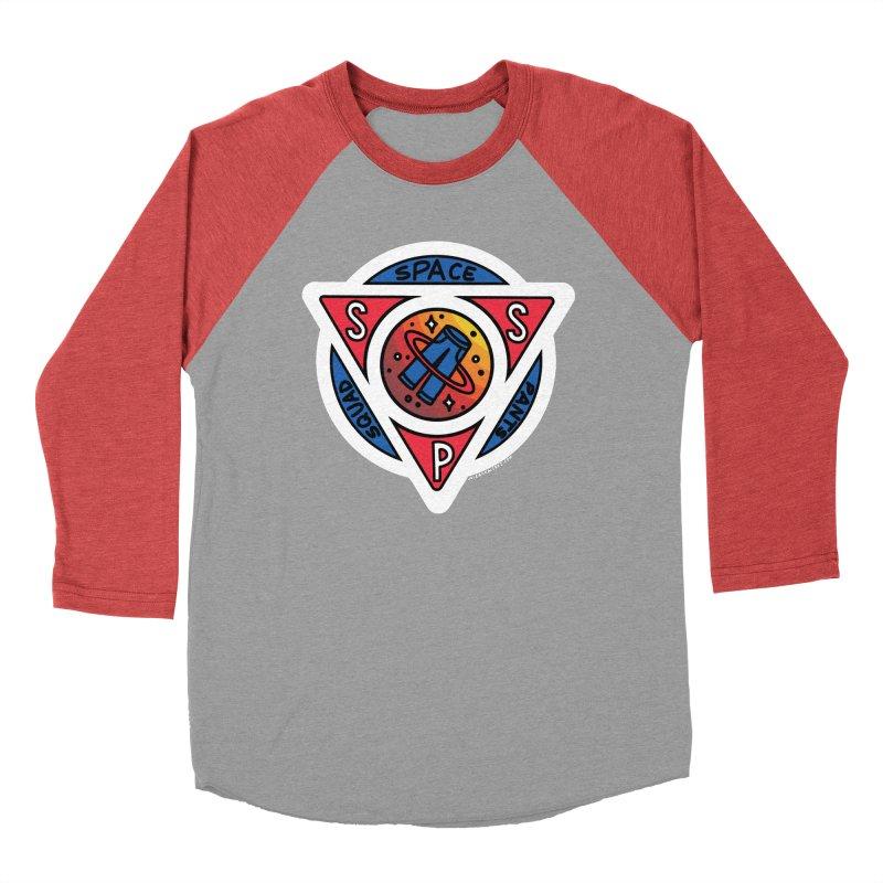 Space Pants Squad (Full Color) Men's Baseball Triblend T-Shirt by Juleah Kaliski Designs