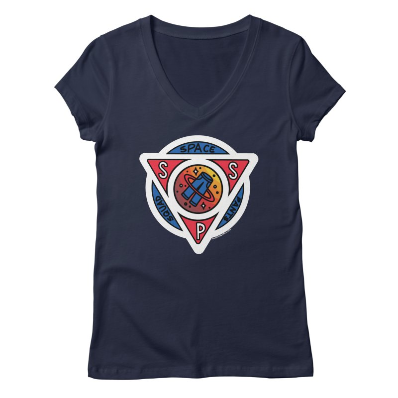 Space Pants Squad (Full Color) Women's Regular V-Neck by Juleah Kaliski Designs