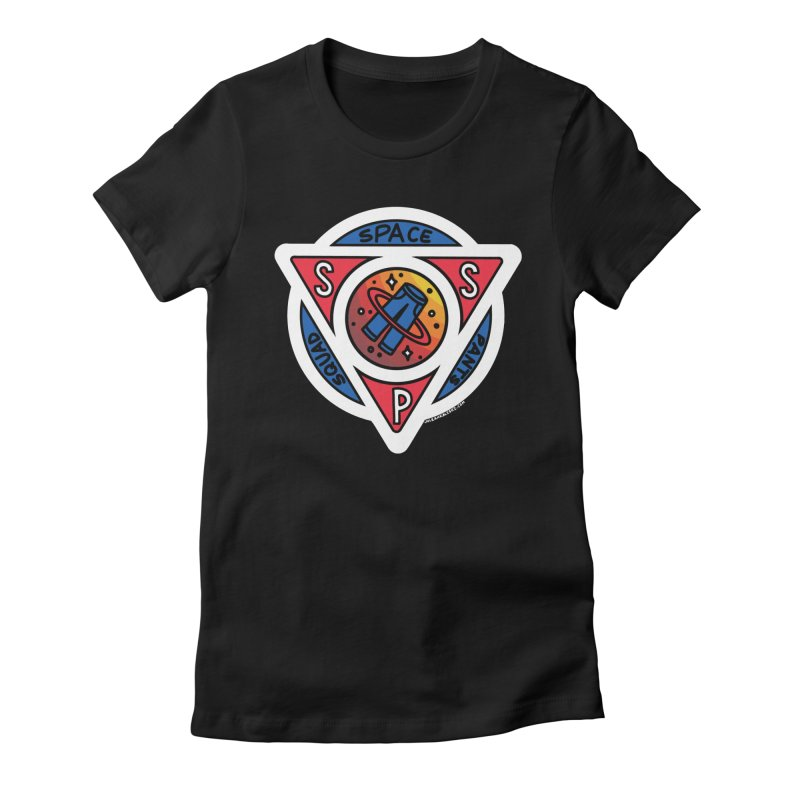 Space Pants Squad (Full Color) Women's Fitted T-Shirt by Juleah Kaliski Designs