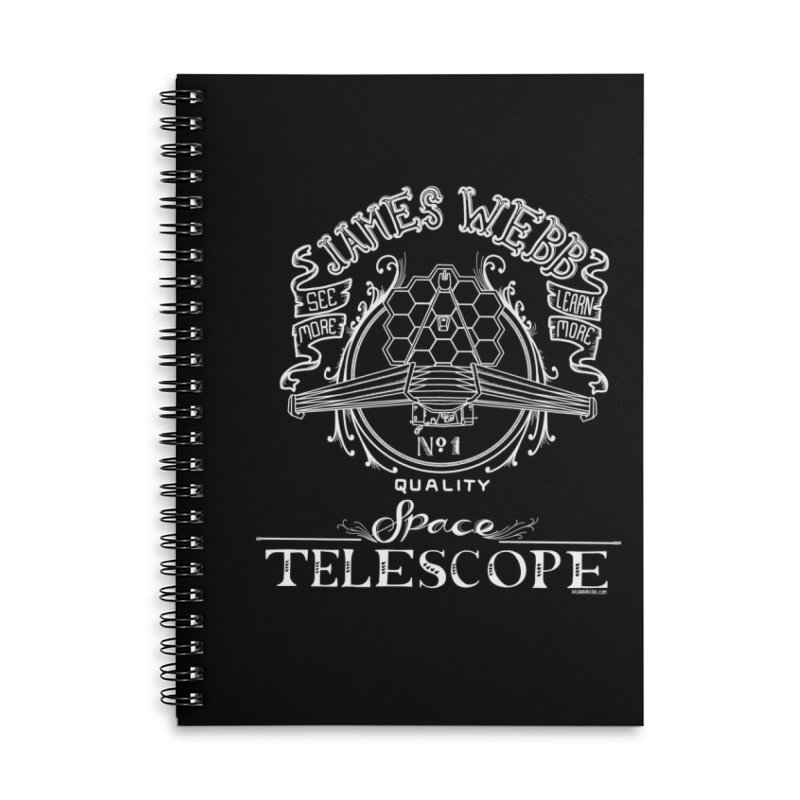 James Webb Space Telescope Accessories Lined Spiral Notebook by Juleah Kaliski Designs