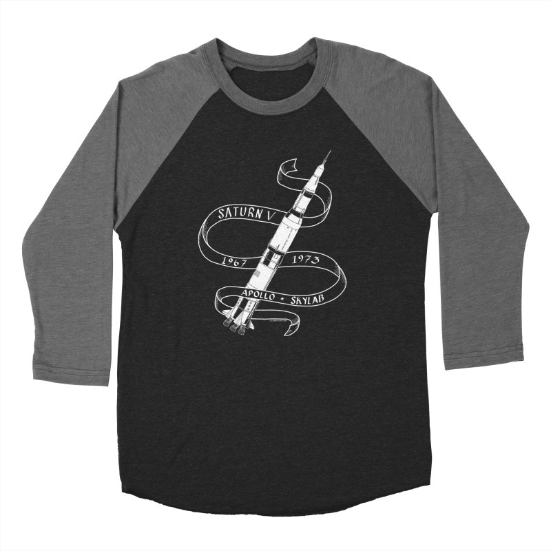 Saturn V Women's Baseball Triblend Longsleeve T-Shirt by Juleah Kaliski Designs