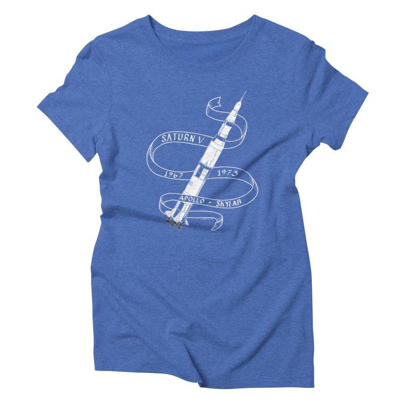 Saturn V Women's Triblend T-Shirt by Juleah Kaliski Designs