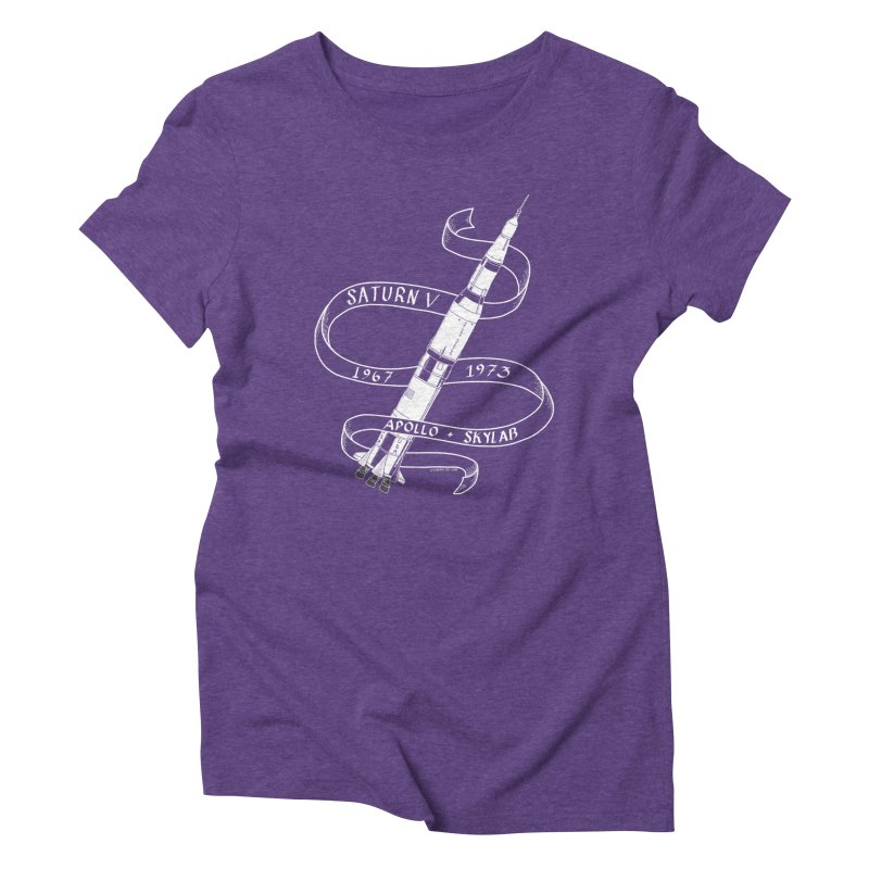 Saturn V Women's Triblend T-Shirt by Juleah Kaliski Designs
