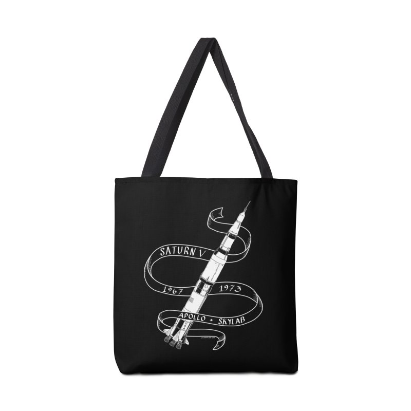 Saturn V Accessories Tote Bag Bag by Juleah Kaliski Designs