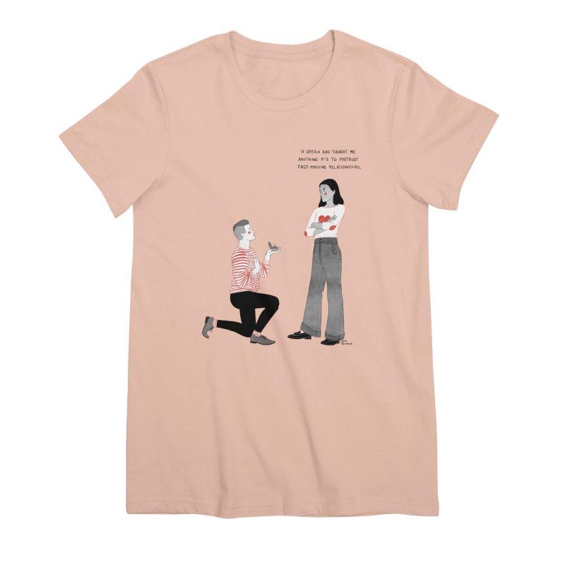 Opera Women's Premium T-Shirt by Julia Bernhard