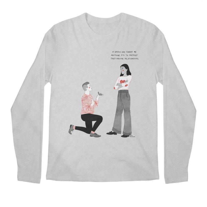 Opera Men's Regular Longsleeve T-Shirt by Julia Bernhard