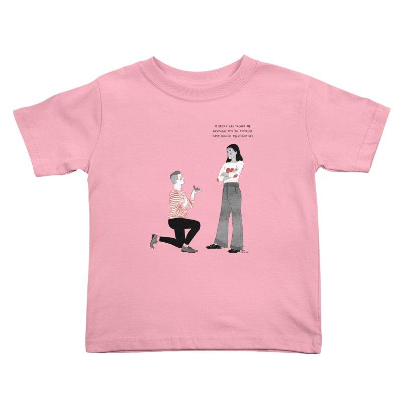 Opera Kids Toddler T-Shirt by Julia Bernhard