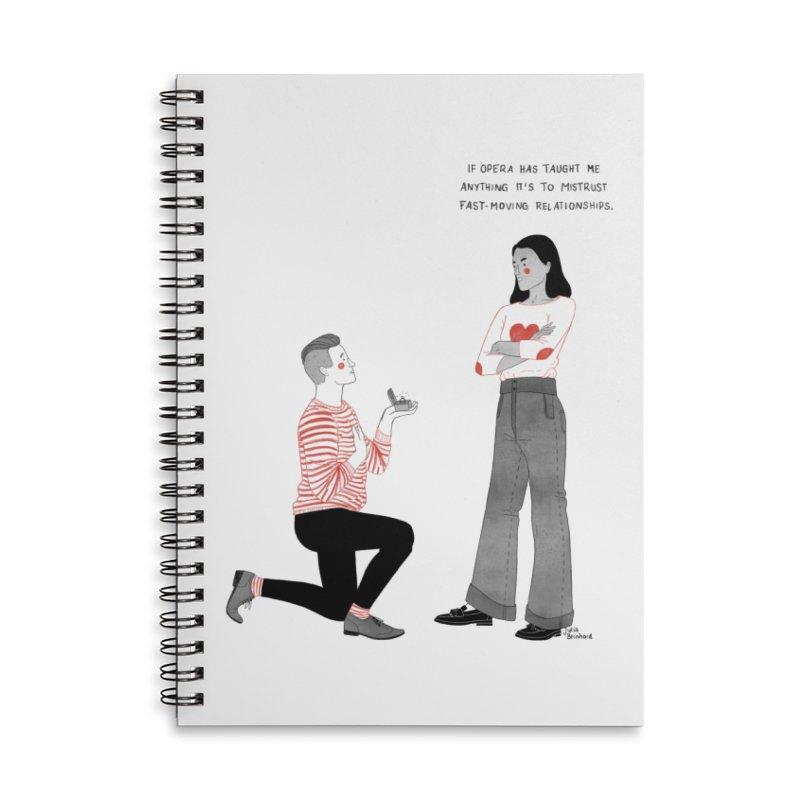 Opera Accessories Lined Spiral Notebook by Julia Bernhard