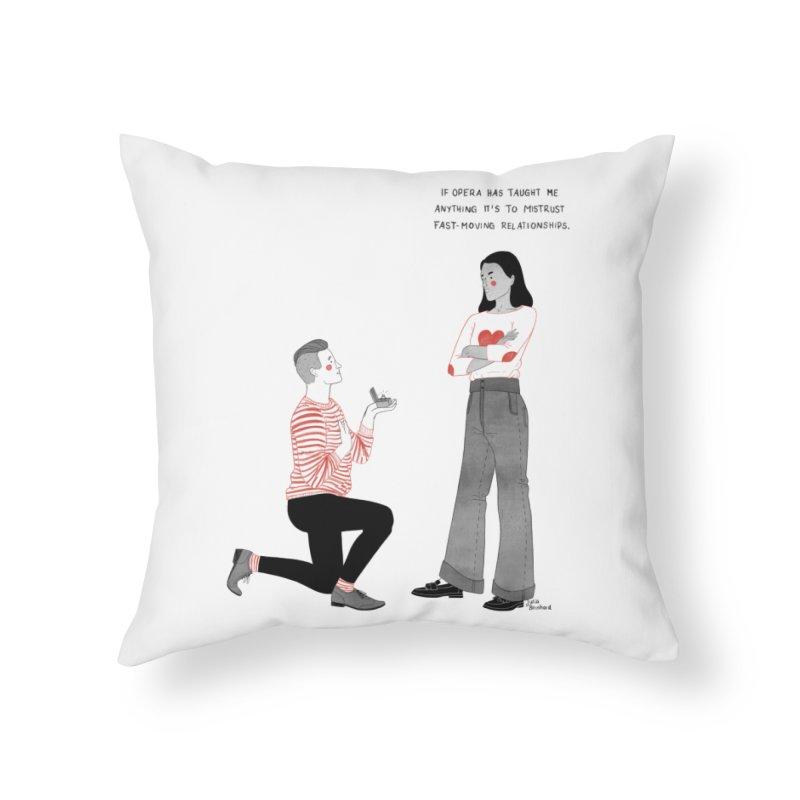 Opera Home Throw Pillow by Julia Bernhard