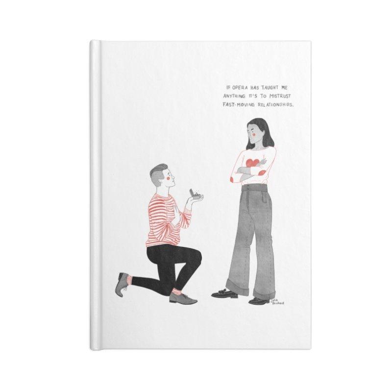 Opera Accessories Blank Journal Notebook by Julia Bernhard