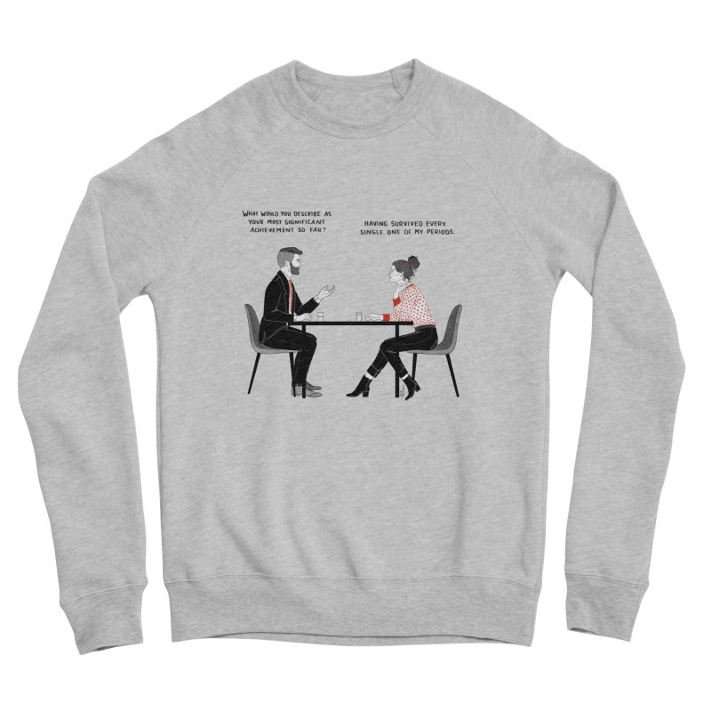 Period. Men's Sponge Fleece Sweatshirt by Julia Bernhard