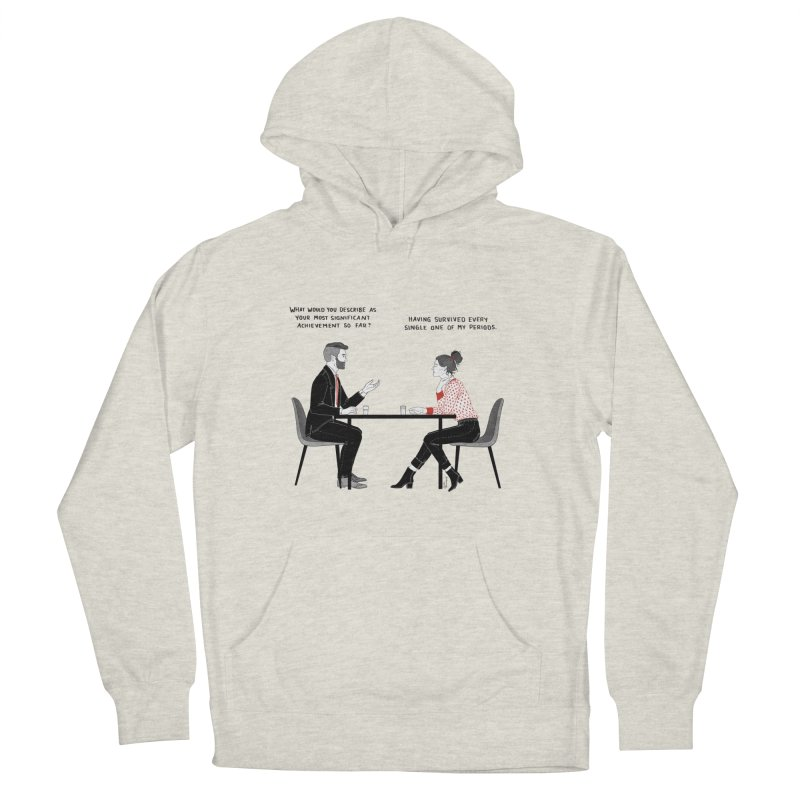 Period. Women's French Terry Pullover Hoody by Julia Bernhard