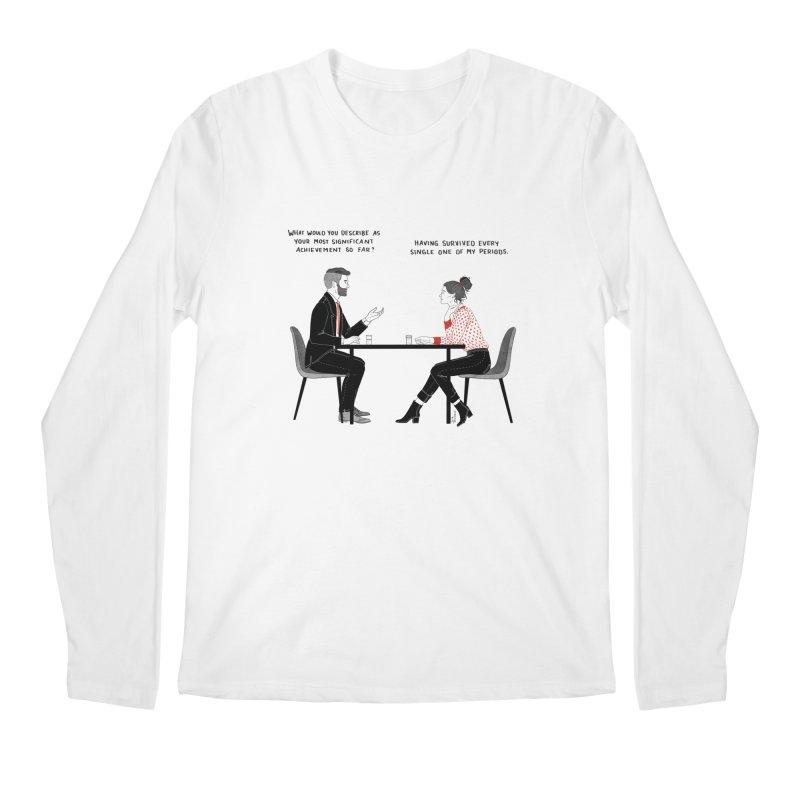 Period. Men's Regular Longsleeve T-Shirt by Julia Bernhard